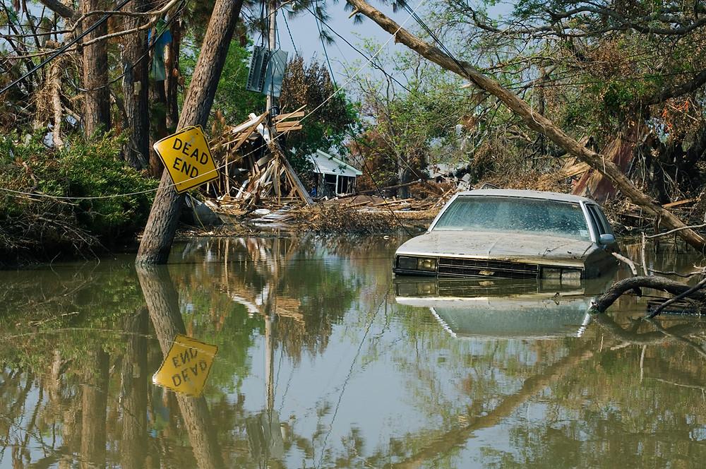 Hurricane Katrina damage in Plaquemines Parish