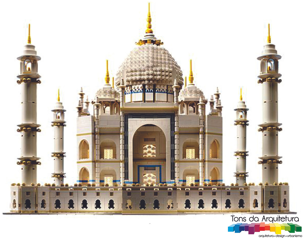 tons da arquitetura Taj Mahal