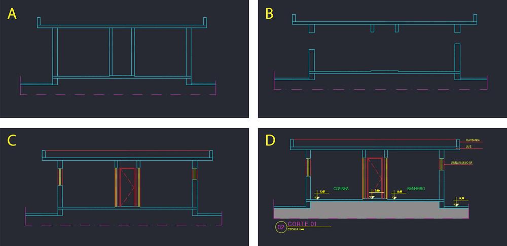 tons da arquitetura hierarquia desenho cad projeto arquitetônico