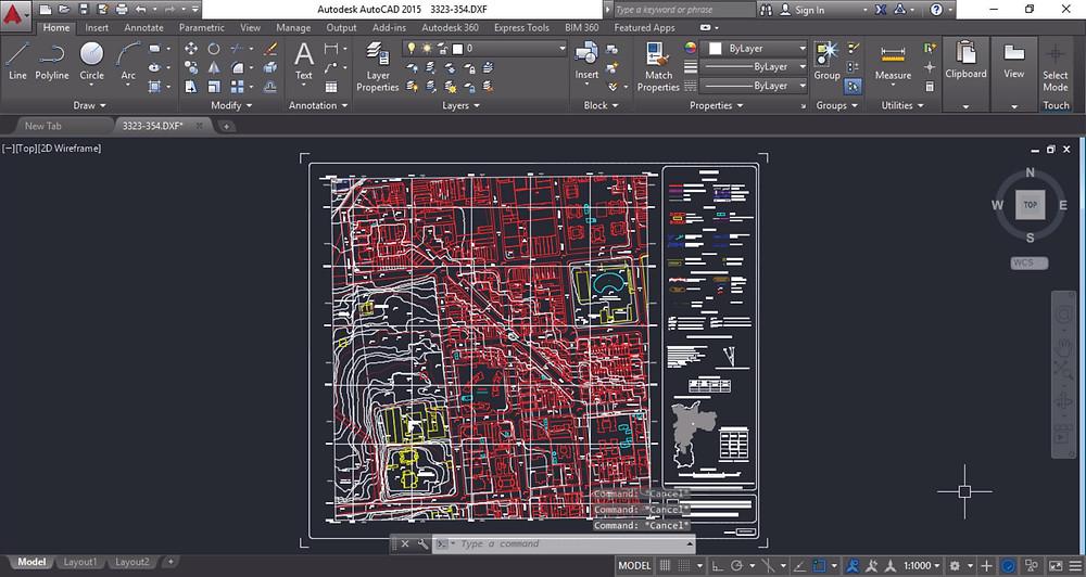 tons da arquitetura Mapa digital