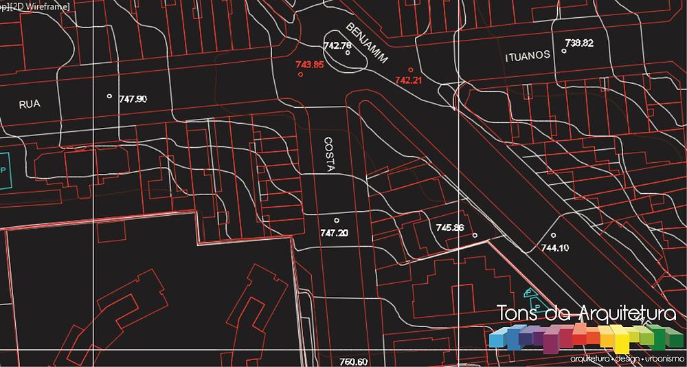 tons da arquitetura mapa digital capa