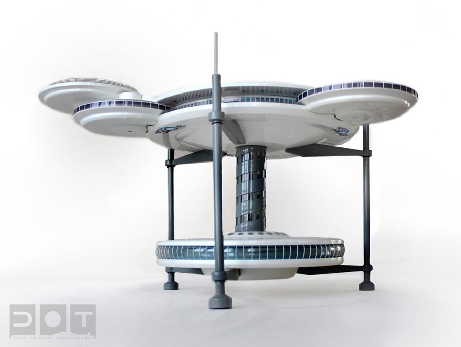 Water Discus tons da arquitetura