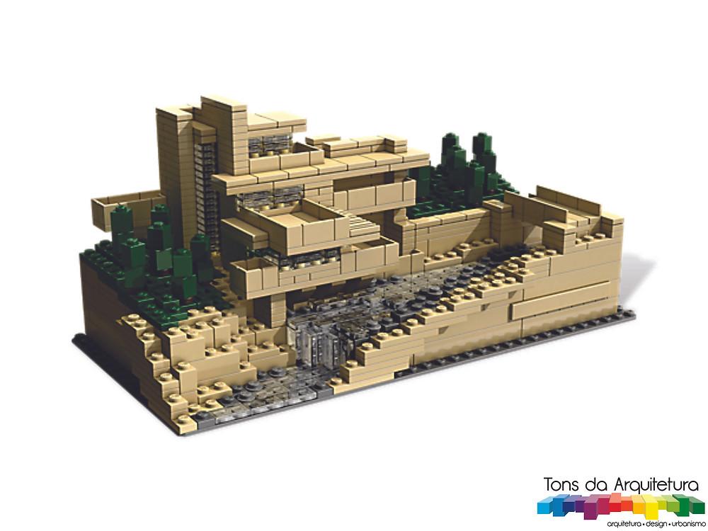 tons da arquitetura Fallingwater