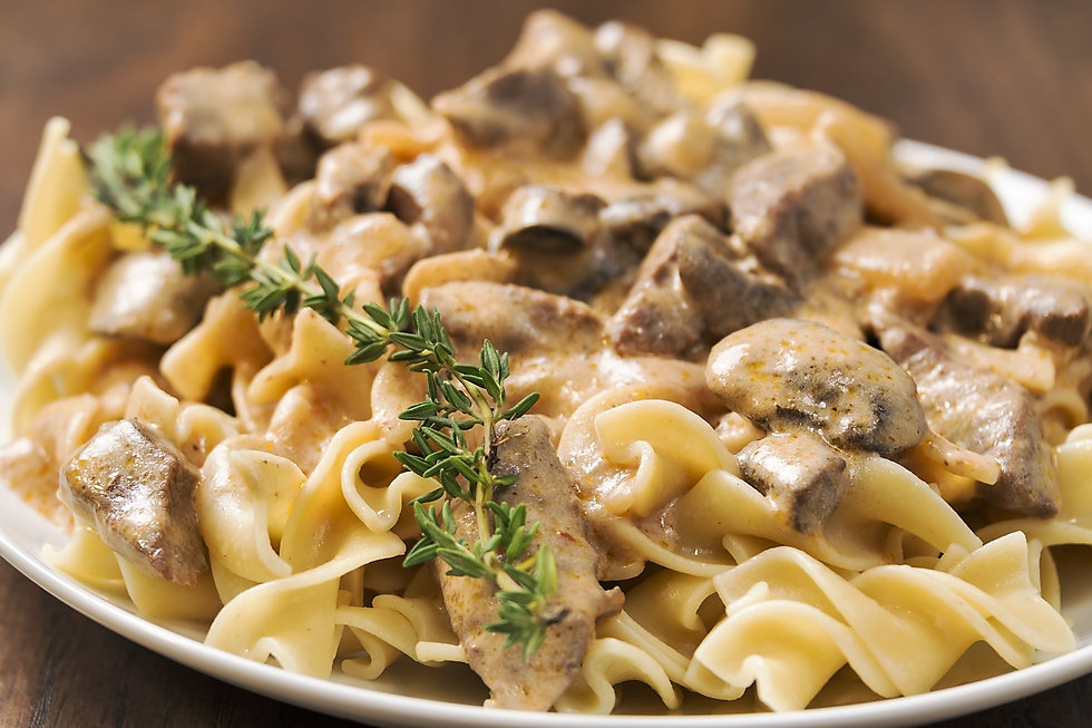 Beef Stroganoff with Bellwether Farms creme fraiche