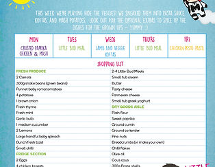 Little Bud Meal Planner