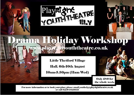 March Holiday Drama Club, PlyRight Holiday Drama, Holiday Drama March, Holiday Drama Cambs