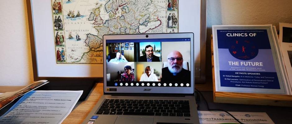 Українське Лікарське Товариство в Німеччині   прийняло  участь у відеоконференціі Clinics of the Future  Украінського Лікарського Товариства Великої Британії.