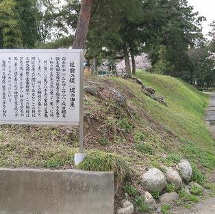 上之村神社堤