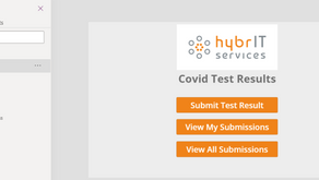 COVID Test Reporting using Power Apps
