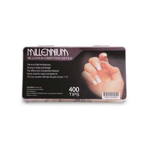 400 Nail Tips - Competition Natural - Millennium Nails