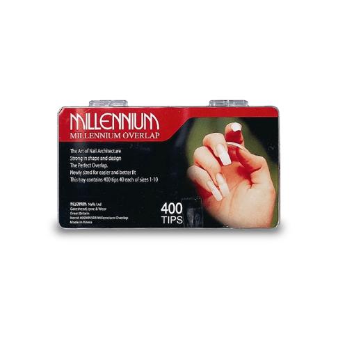 400 Nail Tips - Overlap - Millennium Nails
