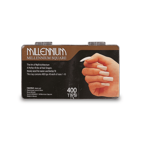 400 Nail Tips - Square - Millennium Nails