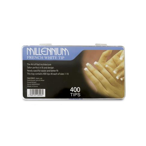 400 Nail Tips - French White - Millennium Nails