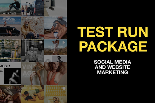Test Run Ad Package