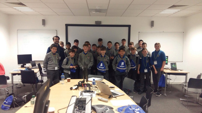 First Years visit Ericsson for Hackathon