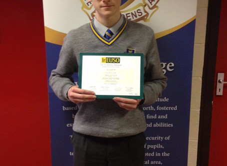 Marist Student placed in Top 10 of The Irish European Union Science Olympia