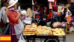 Comida callejera boliviana en La Paz