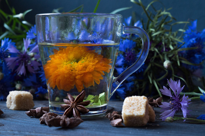 Волшебный чай из васильков и календулы для cнижения аппетита