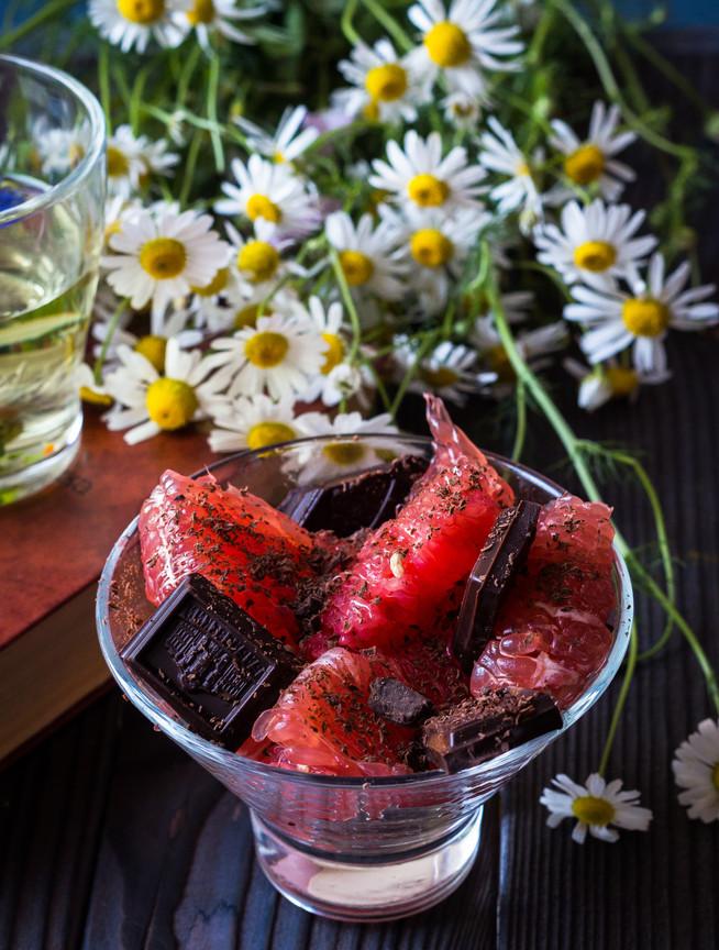Ромашковый чай с грейпфрутовым десертом - идеальный завтрак
