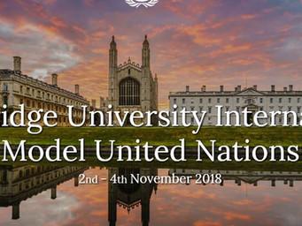 Cambridge University International Model United Nations: CUIMUN 2018 [Nov 2-4, UK]: Apply by Sept 30