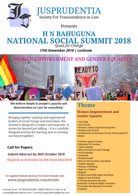 Call For Papers: Conference on Women Empowerment and Gender Equality at  Jusprudentia Presents H N B