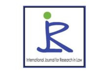 Call for Papers: International Journal for Research in Law [Vol 3 Issue 2]: Pay Rs. 1500 for Publica
