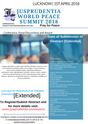 [Abstract Submission Date Extended]Jusprudentia World Peace Summit 2018