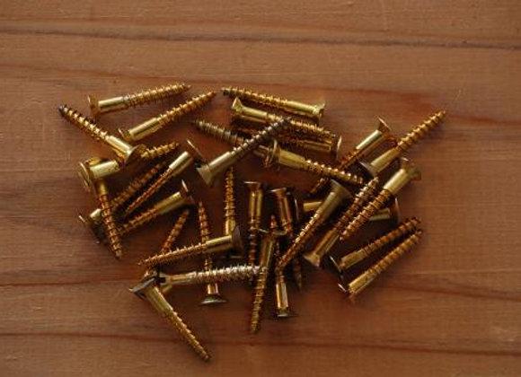 真鍮のマイナス木ねじ 規格20mm