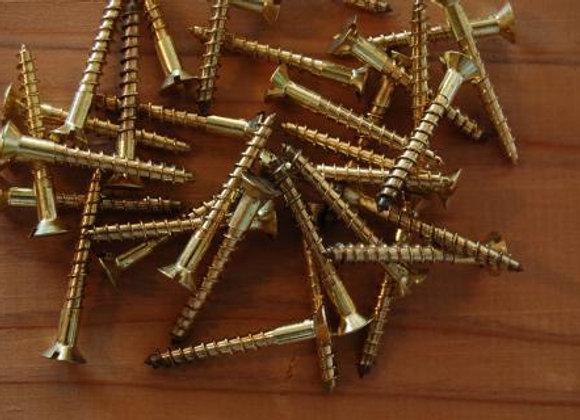 真鍮のマイナス木ねじ 規格32mm
