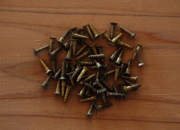 真鍮のマイナス木ねじ 規格10mm