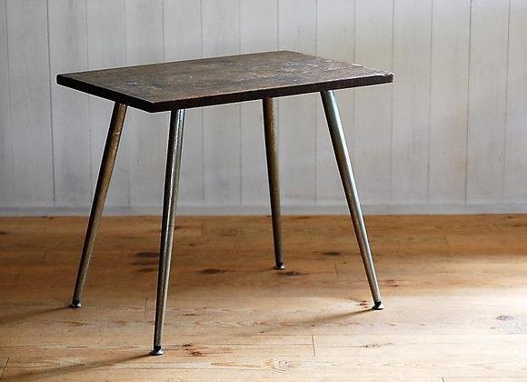 古材天板のサイドテーブル