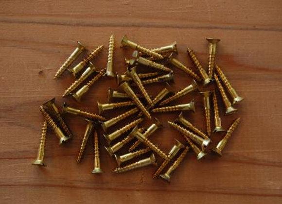 真鍮のマイナス木ねじ 規格16mm