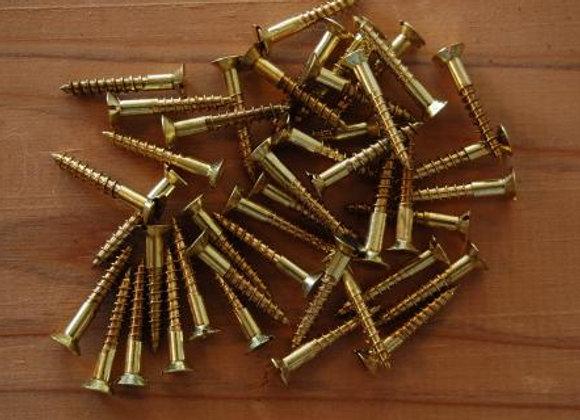真鍮のマイナス木ねじ 規格22mm