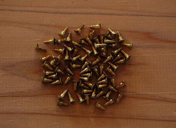 真鍮のマイナス木ねじ 規格6.3mm