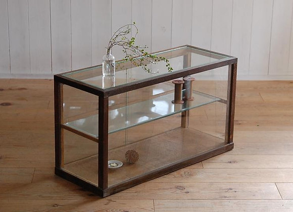 木枠のガラスショーケース(小)