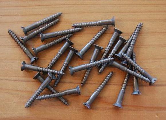 鉄のマイナス木ねじ 規格32mm
