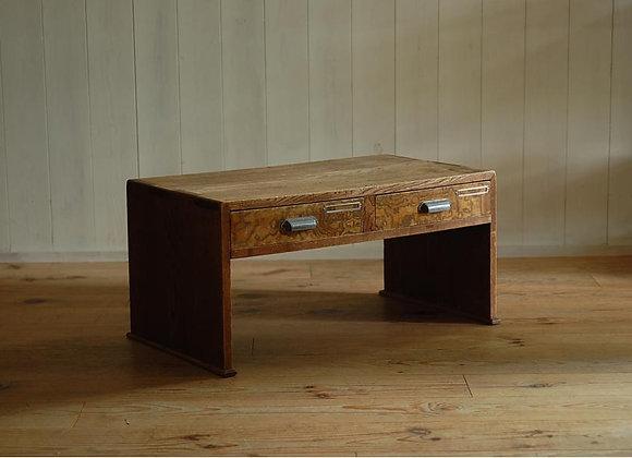 欅材の文机