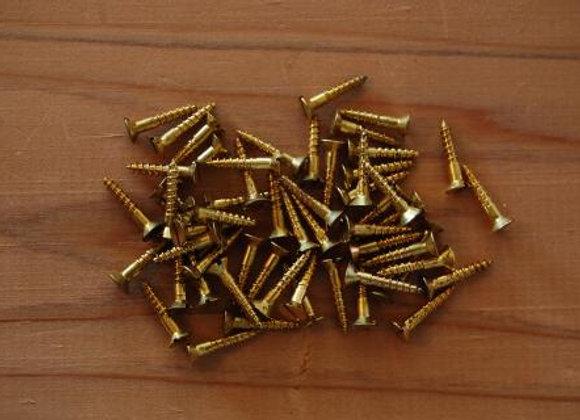 真鍮のマイナス木ねじ 規格13mm