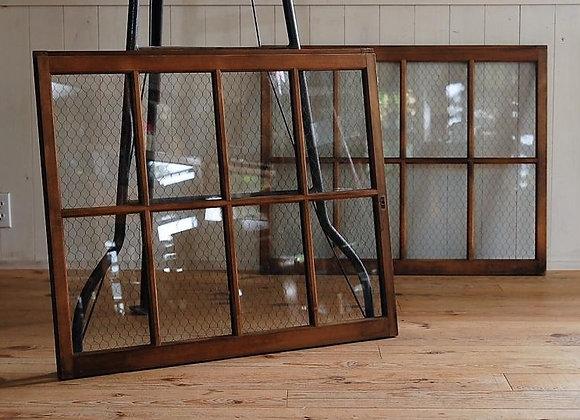 網入りガラスの建具(引き違い・透明窓)