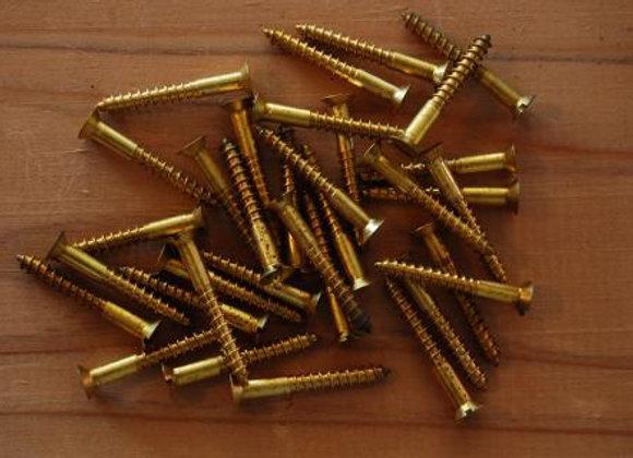真鍮のマイナス木ねじ 規格25mm