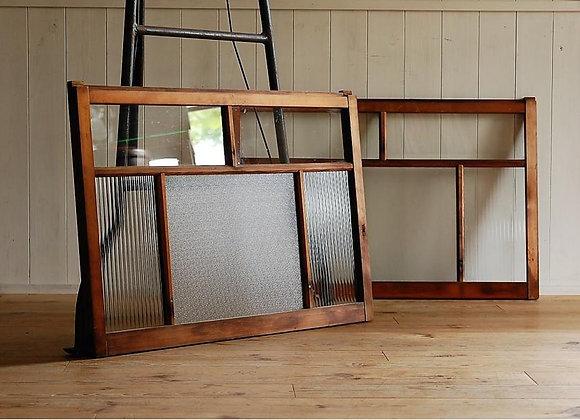 モールガラスの建具(引き違い窓)