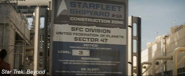 Starfleet Shipyard Sign