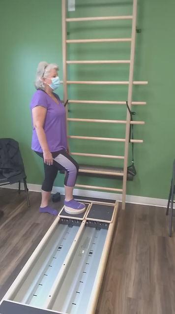 video of a pilates class