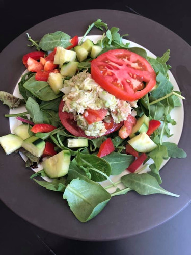 salad with protien