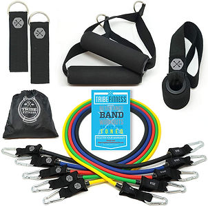 Tribe Resistance Bands Set, Exercise Bands for Working Out...