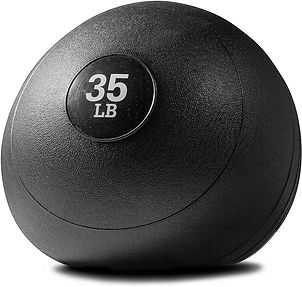 Titan Fitness 10-60 lb Slam Spike Ball Rubber Exercise Weight...