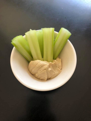 hummus and celery snack