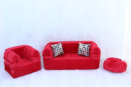 Standard Sofa- Red Apple