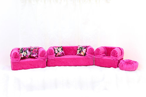 Classic Sofa- Lipstick Pink