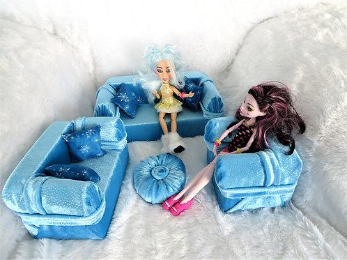 Classic Sofa - Frozen Blue Sparkles